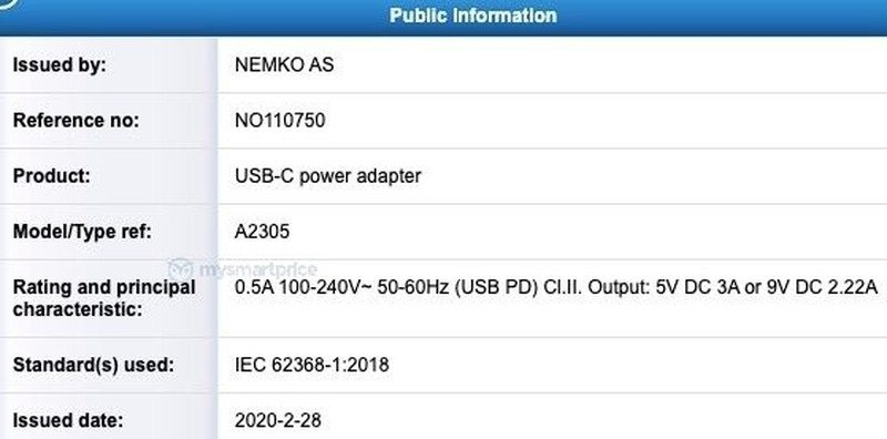 iPhone 12 будут комплектоваться 20-Вт зарядным устройством